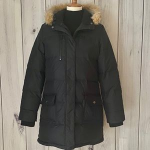 Old Navy Fur Lined Frost Free Long Black Coat